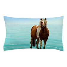 Chincoteague Paint Pony at Surf's Edge Pillow Case