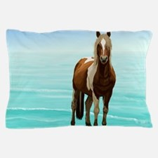 Chincoteague Paint Pony at Surf's Edge Pillow Case