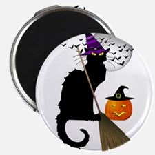 Le Chat Noir - Halloween Witch Magnets