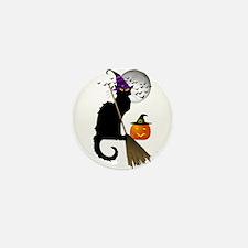 Le Chat Noir - Halloween Wit Mini Button (10 pack)