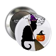 "Le Chat Noir - Halloween Witch 2.25"" Button"
