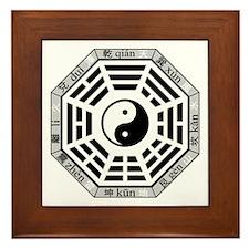 Unique Yin yang Framed Tile