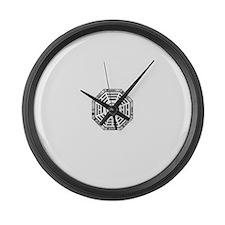 Cool Yin yang Large Wall Clock