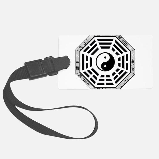 Yin yang Luggage Tag
