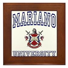 MARIANO University Framed Tile