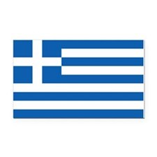 Greece Flag Rectangle Car Magnet