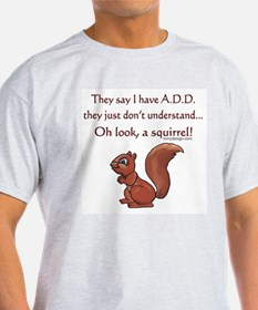 ADD Squirrel Design T-Shirt