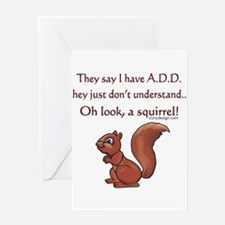 ADD Squirrel Design Greeting Cards