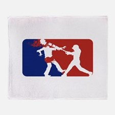 Batter Up! Zombie Throw Blanket