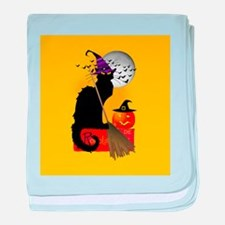 Le Chat Noir - Halloween Witch baby blanket
