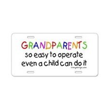 Grandparents Aluminum License Plate