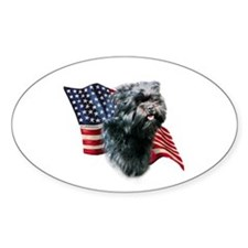 Affenpinscher Flag Oval Decal