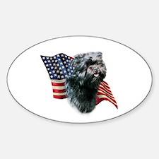 Affenpinscher Flag Oval Decal