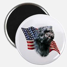 Affenpinscher Flag Magnet