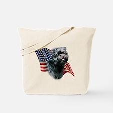 Affenpinscher Flag Tote Bag