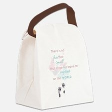 No foot too small Infant Loss quo Canvas Lunch Bag