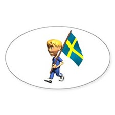 Sweden Boy Oval Decal