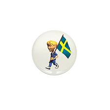 Sweden Boy Mini Button (100 pack)