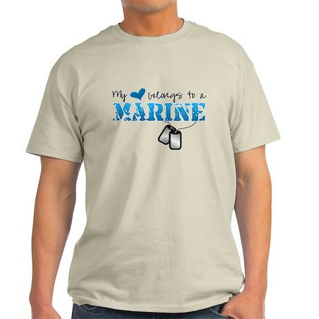 My heart belongs to a Marine Light T-Shirt