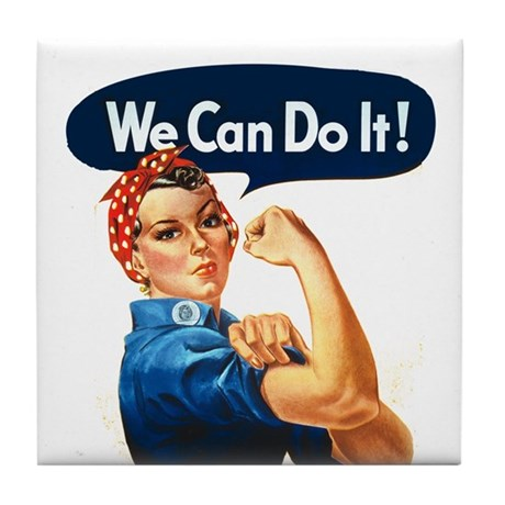 We Can Do It! Tile Coaster
