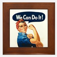 We Can Do It! Framed Tile