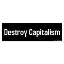 destroy capitalism Bumper Car Sticker