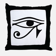Wadjet Eye of Ra Throw Pillow