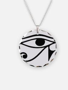 Wadjet Eye of Ra Necklace Circle Charm