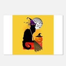 Le Chat Noir - Halloween Postcards (Package of 8)
