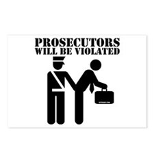 Prosecutors will be Violated Postcards (Package of