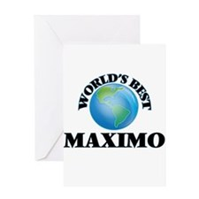 World's Best Maximo Greeting Cards
