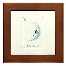 La Luna Loteria Card Framed Tile