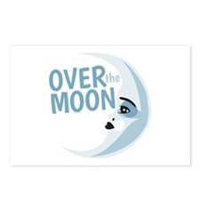 Over The Moon Postcards (Package of 8)