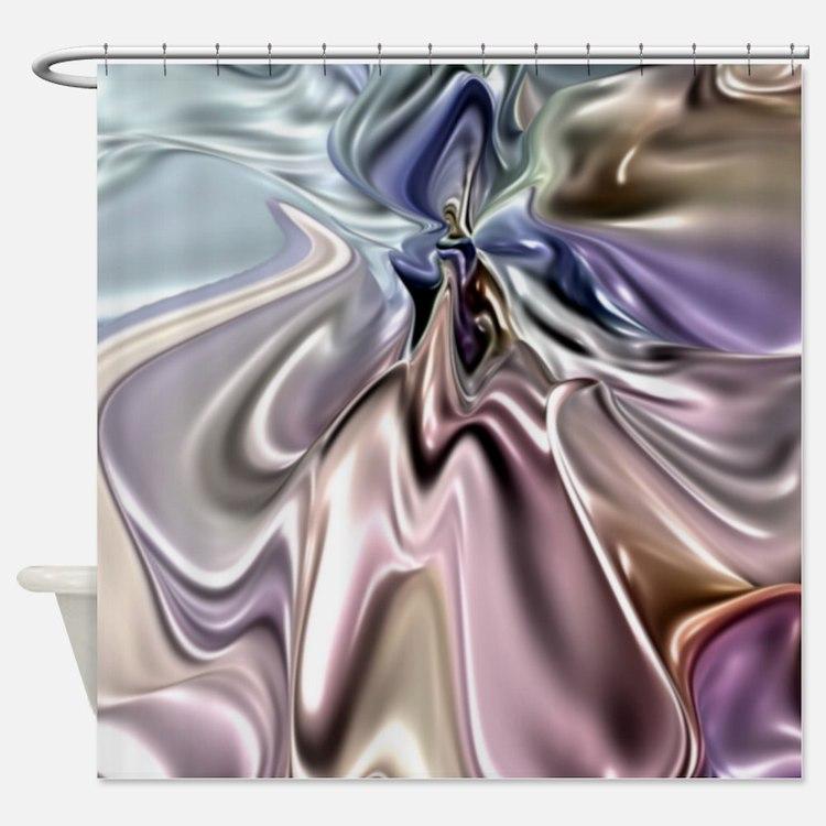 Pastels Satin Gown Shower Curtain