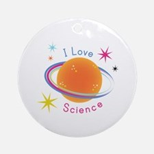 I Love Science Ornament (Round)