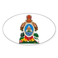 Honduras Coat of Arms Oval Decal