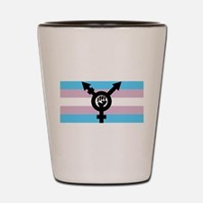 intersex pride flag Shot Glass