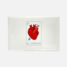 El Corazon Loteria Card Magnets