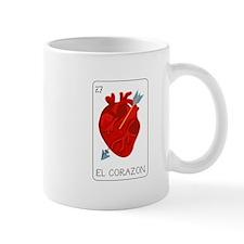 El Corazon Loteria Card Mugs