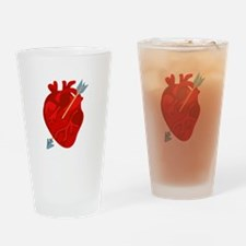 Heart Arrow Drinking Glass