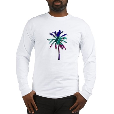 Abstract Palm Tree Long Sleeve T-Shirt