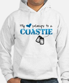 My heart belongs to a Coastie Jumper Hoody