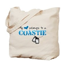 My heart belongs to a Coastie Tote Bag