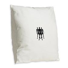 latex Burlap Throw Pillow