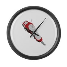 Hair Clipper Large Wall Clock