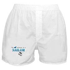 My heart belongs to my Sailor Boxer Shorts