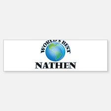 World's Best Nathen Bumper Car Car Sticker