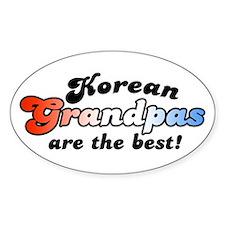 Korean Grandpa Oval Decal