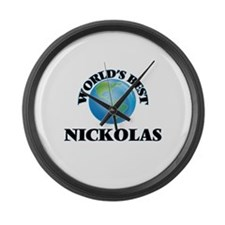 World's Best Nickolas Large Wall Clock