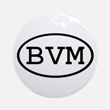 BVM Oval Ornament (Round)